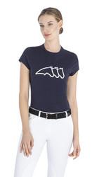 Equiline Celiac naisten T-paita, tummansininen ja valkoinen