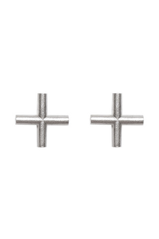 The Cross stud earrings by Sini Kolari