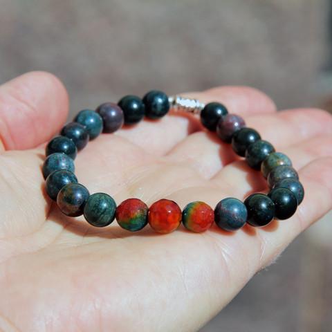 Rainbow prayer bracelet