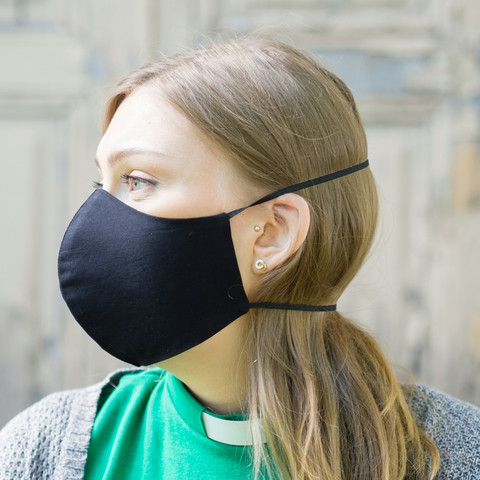 Pyhävaate cotton cloth mask, black
