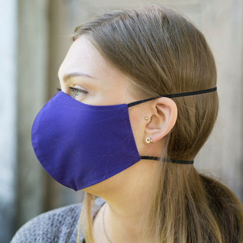 Pyhävaate cotton cloth mask, purple