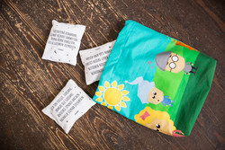 Children's evening prayer pouch
