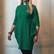 Green tunic with tab collar