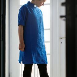 Blue linen tunic