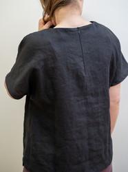Linen boat neck top