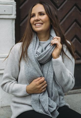 LOVE scarf , meleerattu harmaa