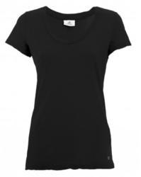 Deha V-aukko t-paita. Väri: Musta