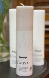 Vegaaninen Oliva-kynttilä 5 x 20cm. Väri:Puuteri
