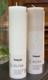 Vegaaninen Oliva-kynttilä 5 x 20cm. Väri:Valkoinen