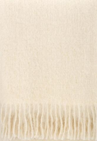 SAAGA UNI villahuopa 130 x 170cm + hapsut, l.valkoinen