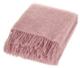 SAAGA UNI villahuopa 130 x 170cm + hapsut, vaaleanpunainen