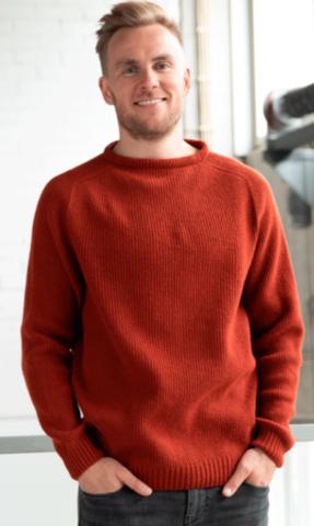 KASKI miesten ribbineule Väri: Rust
