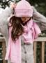 LOVE scarf , vaaleanpunainen