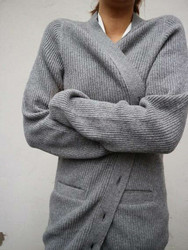 WARM light cardigan, Grey