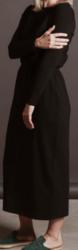 TILDA-mekko , 1/1 hiha, vyötärönauhalla. Väri: musta