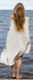 LAINE poncho.125 x 85 cm + hapsut. Valko-pellava