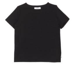 Laadukas perus t-paita Fiia 1/2 hiha, o-aukko Väri:Musta