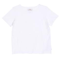 Laadukas perus t-paita Fiia 1/2 hiha, o-aukko Väri:Valkoinen