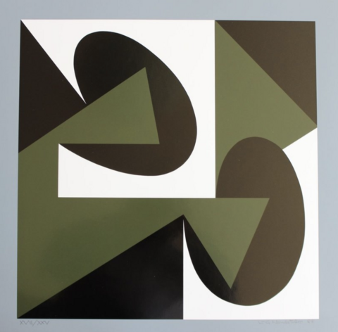 Nordström Dimensions III, 1988, 65x65 / Kehystetty
