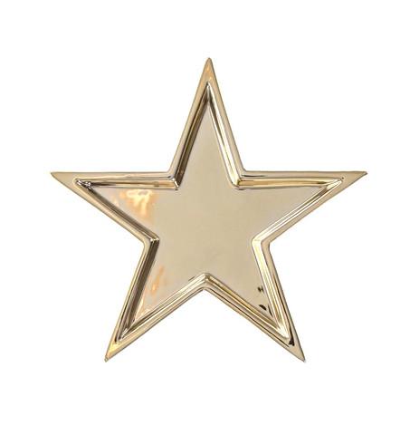 Tähtialunen 18 cm kullanvärinen