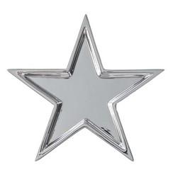 Tähtialunen 23 cm hopeanvärinen