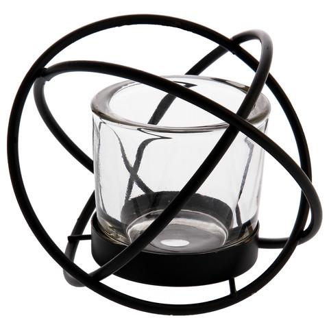 Metallipallo-tuikkulyhty musta