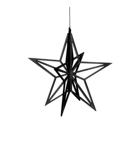 Valona tähtikoriste pieni musta
