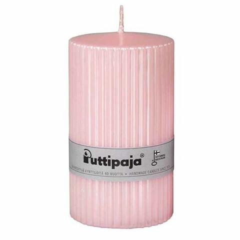Kynttilä metallihohtoinen vaaleanpunainen
