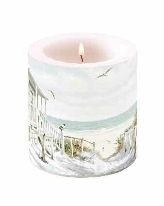 Kynttilä rantahuvila 10 cm