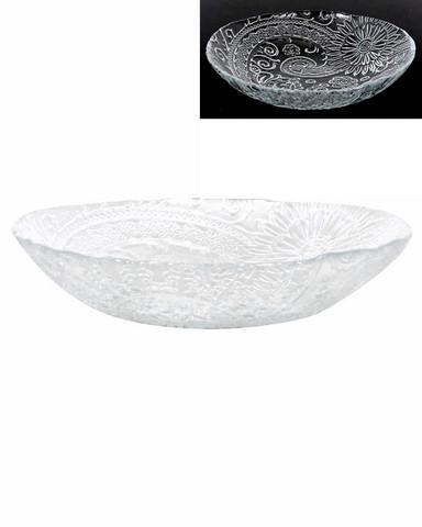 Lasikulho matala Paisley-kuvio 21 cm kierrätyslasia