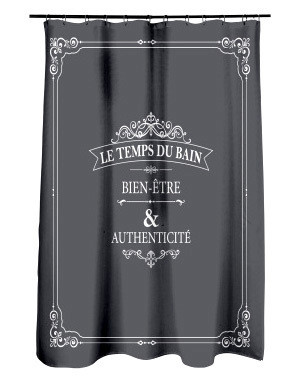 Suihkuverho Le Temps Du Bain + 12 kpl suihkuverhorenkaat