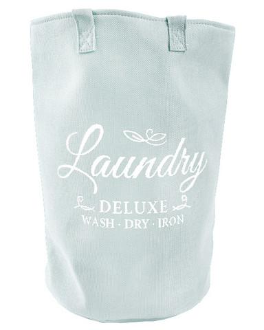 Pyykkikori Laundry deluxe 50 x 33 cm valkoinen teksti