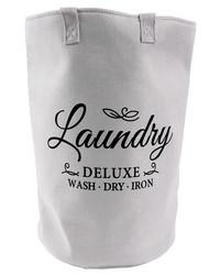 Pyykkikori Laundry deluxe 50 x 33 cm musta teksti