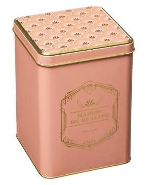 Peltipurkki Art Deco vaaleanpunainen