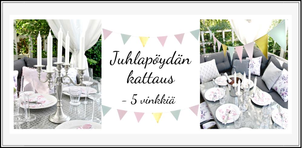 Sisustusvinkit: Juhlapöydän kattaminen - 5 vinkkiä - Sisustusliike Cimla Interior - sisustusnettikauppa