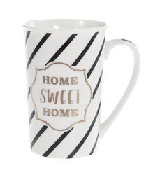 Muki mustavalkoinen Home Sweet Home