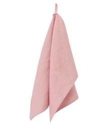 Pellavapyyhe 44x60cm vaaleanpunainen