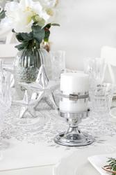 Kynttilä helmiäishohtoinen valkoinen