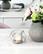 Metallipallo-tuikkulyhty hopeanvärinen
