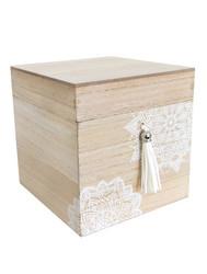 Pieni laatikko tupsulla 14x14cm