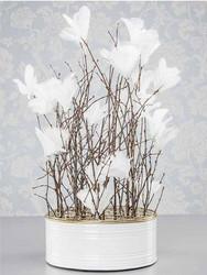 Höyhenkoriste kukka valkoinen - pääsiäiskoriste