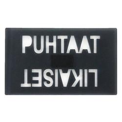 Astianpesukone magneetti puhtaat-likaiset harmaa
