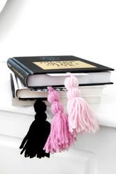 Kirjanmerkki harmaa kuviollinen