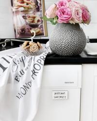 Astianpesukone magneetti puhtaat-likaiset valkoinen