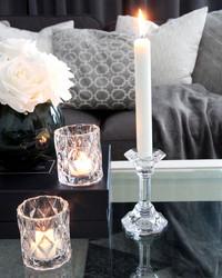 Kynttilänjalka lasia