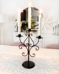 Kynttilänjalka 3-haarainen musta