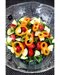 Salaattikulho Paisley-kuvio 25 cm kierrätyslasia