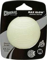 Chuckit! Max Glow - pimeässä hohtava pallo M-koko