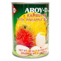 Rambutan ja Ananas hedelmää sokeriliemessä 565g