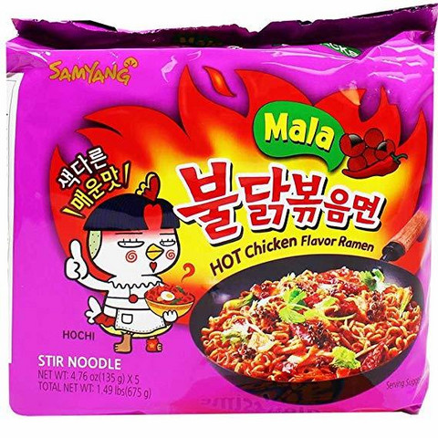 Samyang Spicy Hot Chicken flavor Ramen Mala 135g
